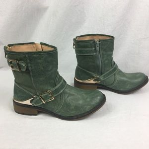 NEW Mossimo Seafoam Green Faux Leather Boots